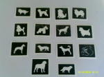 30 x dog stencils (mixed) for glitter tattoos / airbrush tattoos / henna / cakes / etching / many other uses  fund raising girls boys